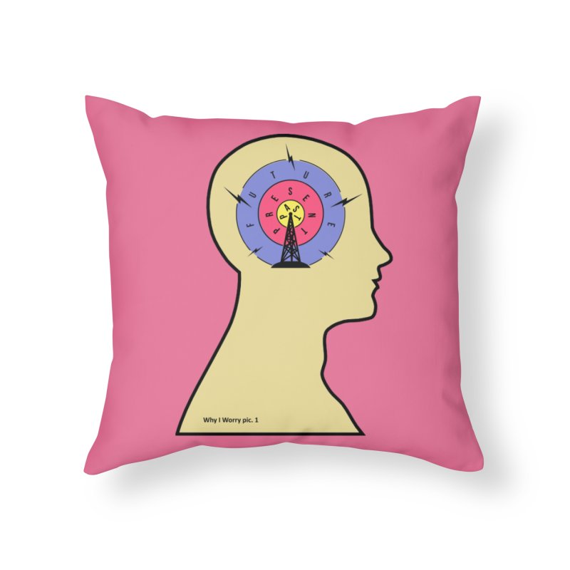ICONIC ANXIETY! Home Throw Pillow by gasponce