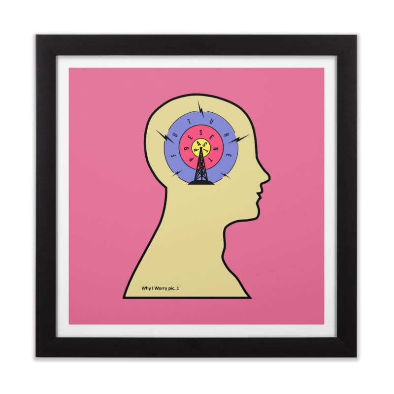 ICONIC ANXIETY! Home Framed Fine Art Print by gasponce