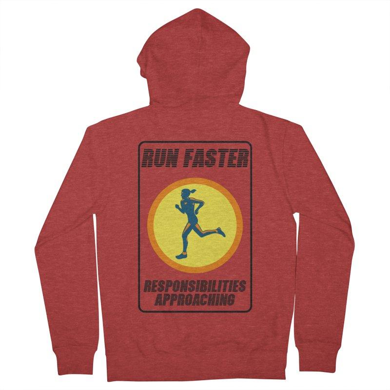 RUN FAST! Men's Zip-Up Hoody by gasponce
