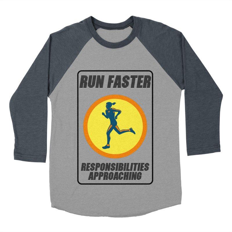 RUN FAST! Men's Baseball Triblend T-Shirt by gasponce