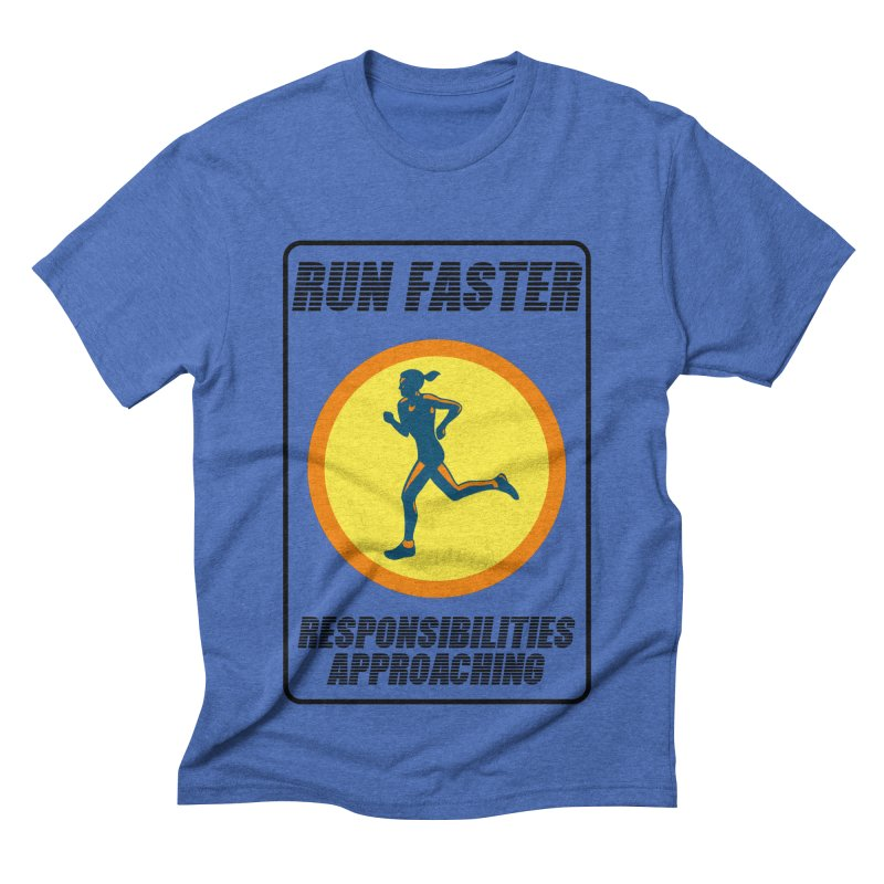 RUN FAST! Men's Triblend T-shirt by gasponce