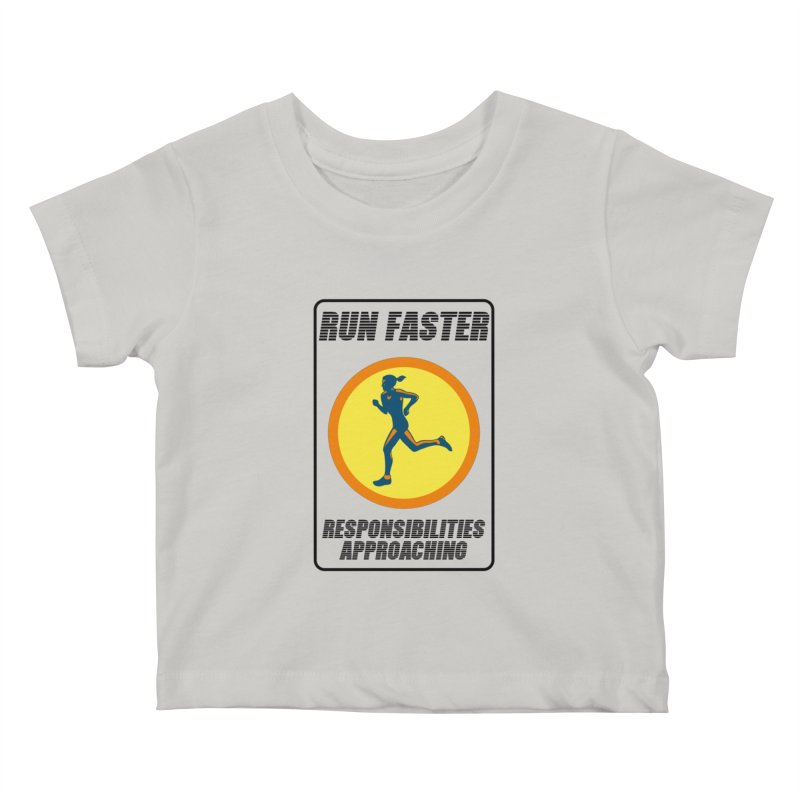 RUN FAST! Kids Baby T-Shirt by gasponce