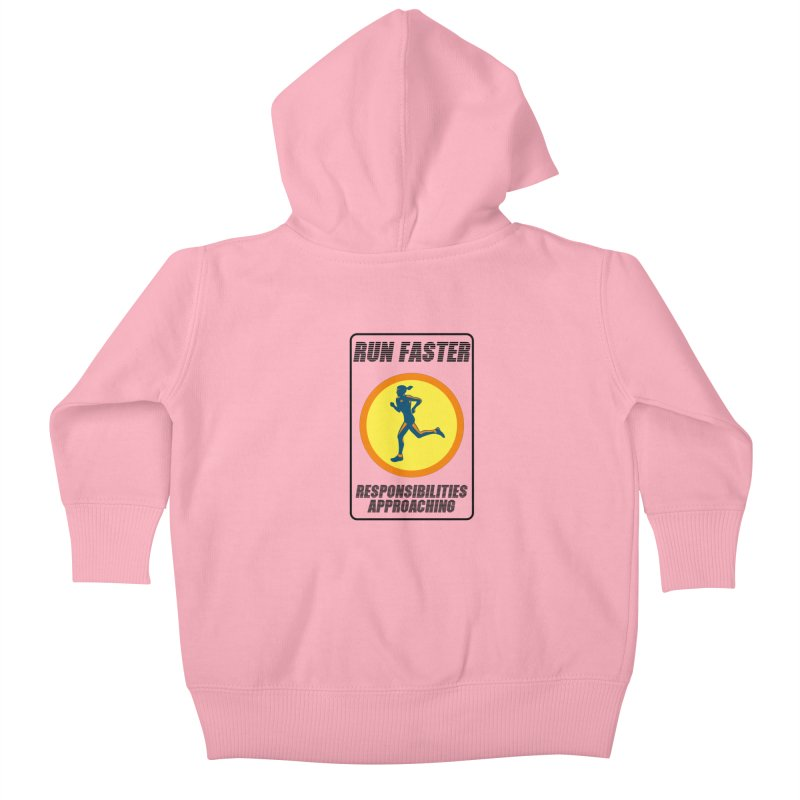 RUN FAST! Kids Baby Zip-Up Hoody by gasponce