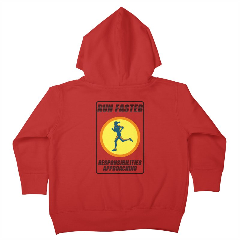 RUN FAST! Kids Toddler Zip-Up Hoody by gasponce