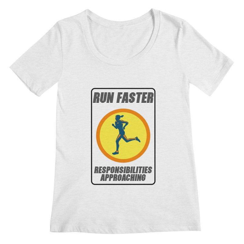 RUN FAST! Women's Scoopneck by gasponce