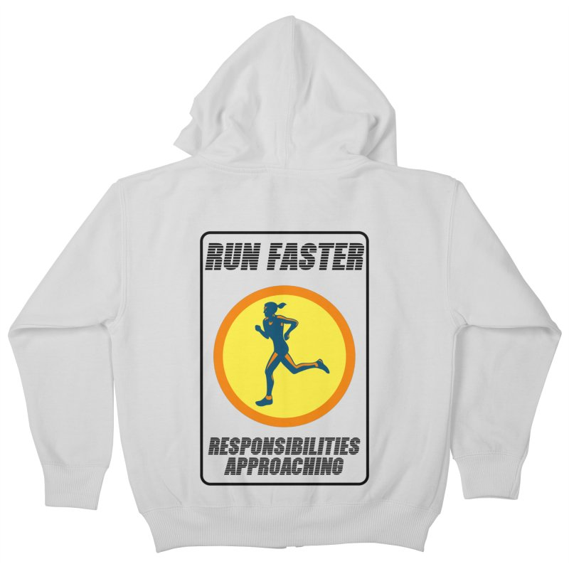 RUN FAST! Kids Zip-Up Hoody by gasponce
