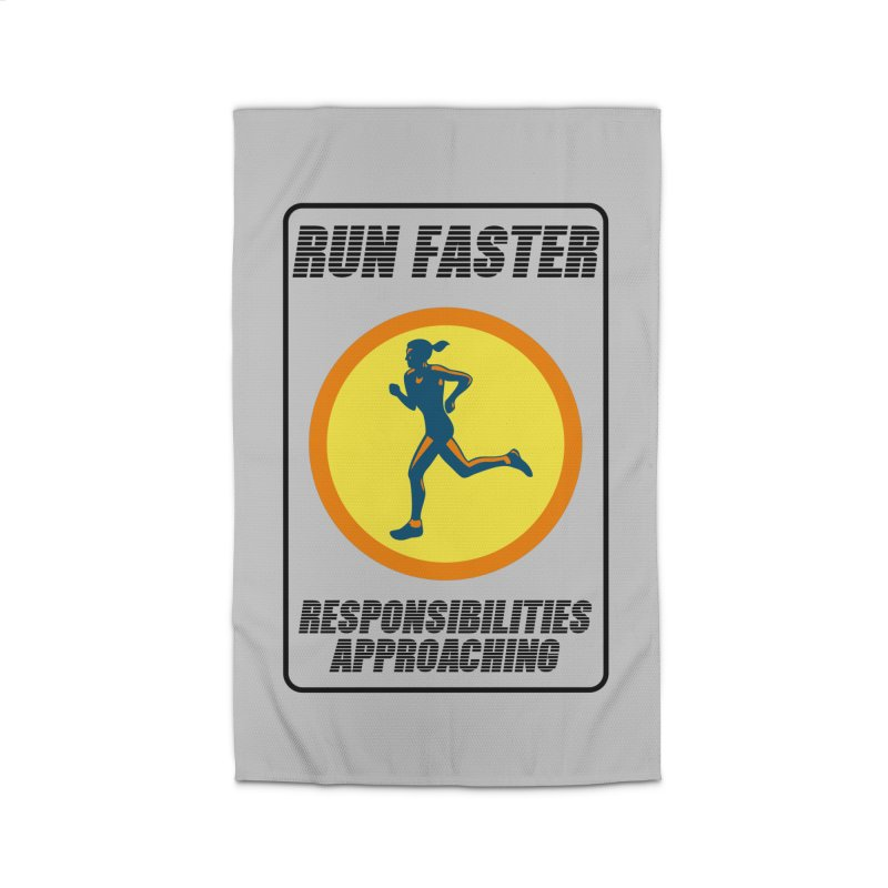 RUN FAST! Home Rug by gasponce