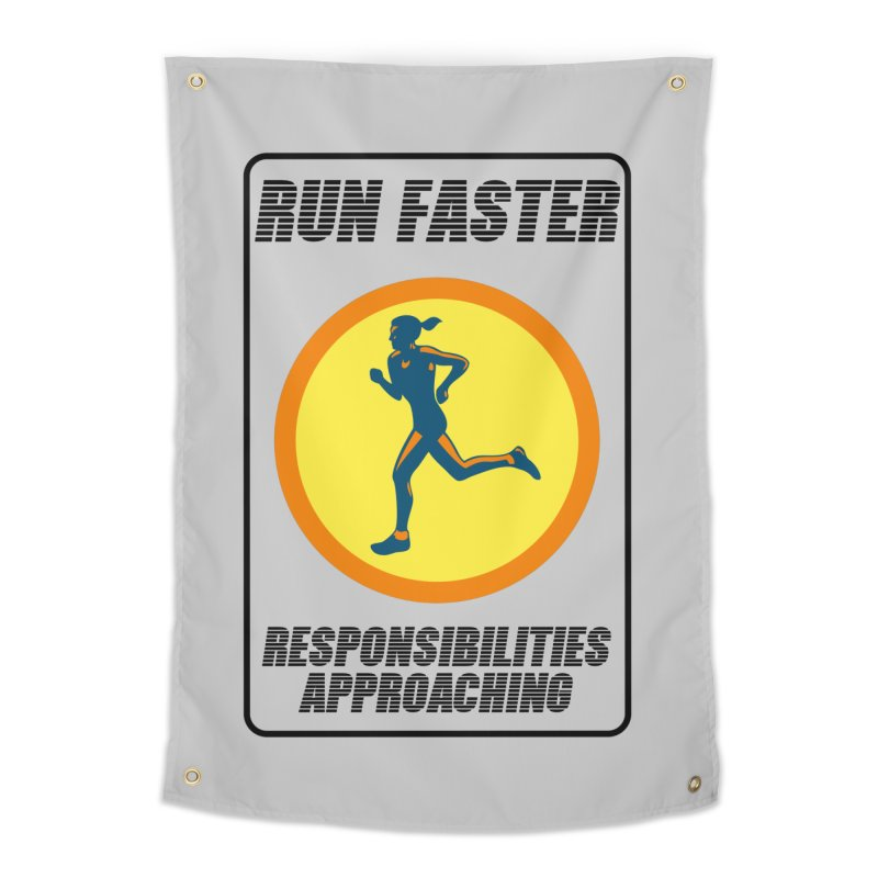 RUN FAST! Home Tapestry by gasponce