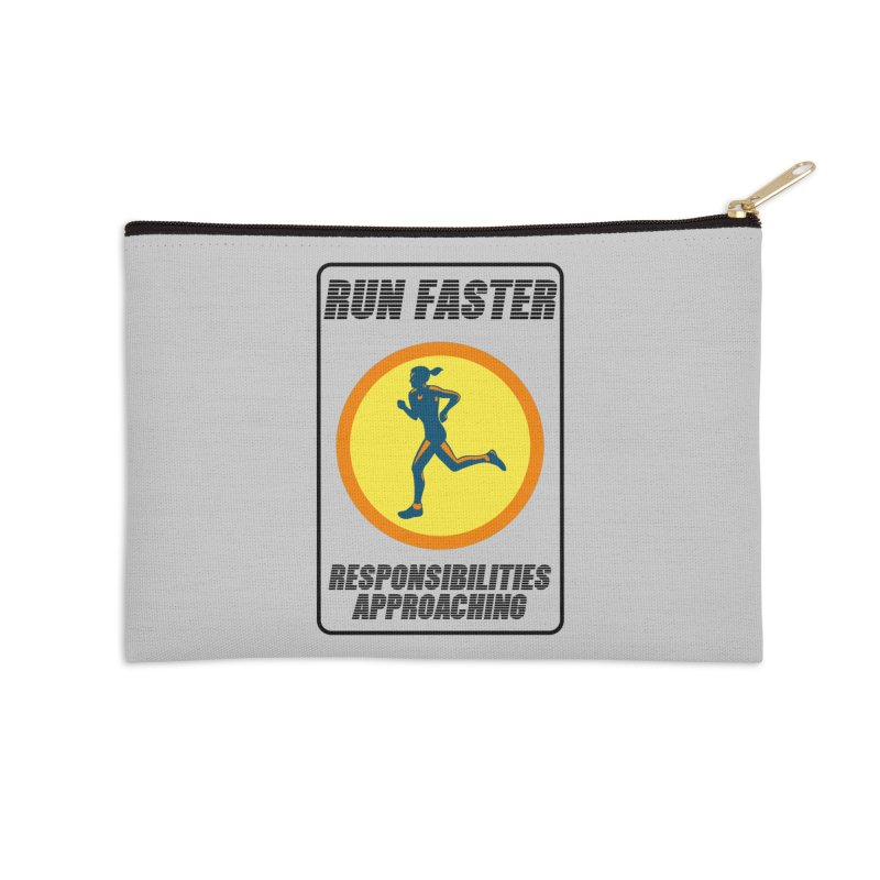 RUN FAST! Accessories Zip Pouch by gasponce