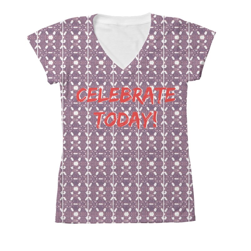 Celebration! Women's V-Neck All Over Print by gasponce