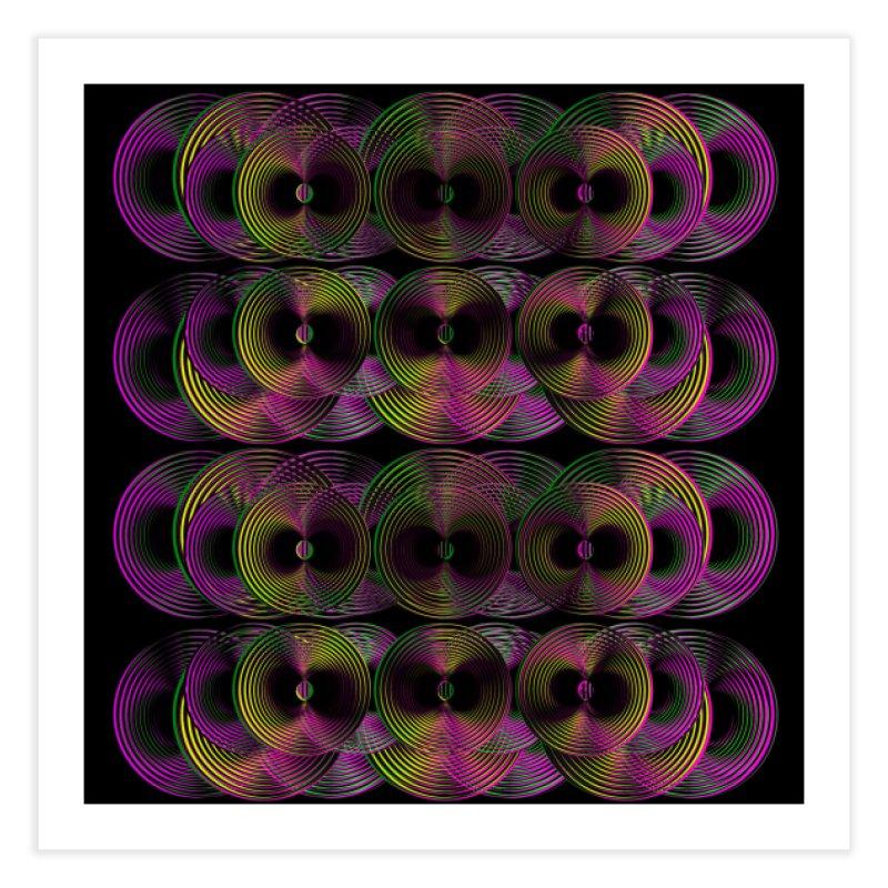 3d lp neon pat. Home Fine Art Print by gasponce