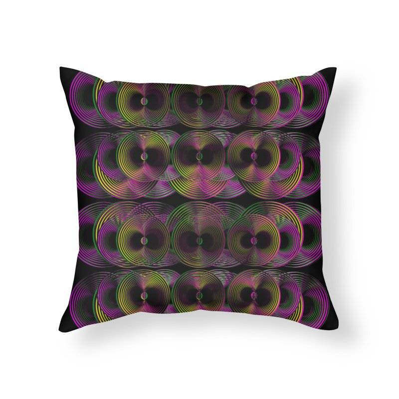 3d lp neon pat. Home Throw Pillow by gasponce