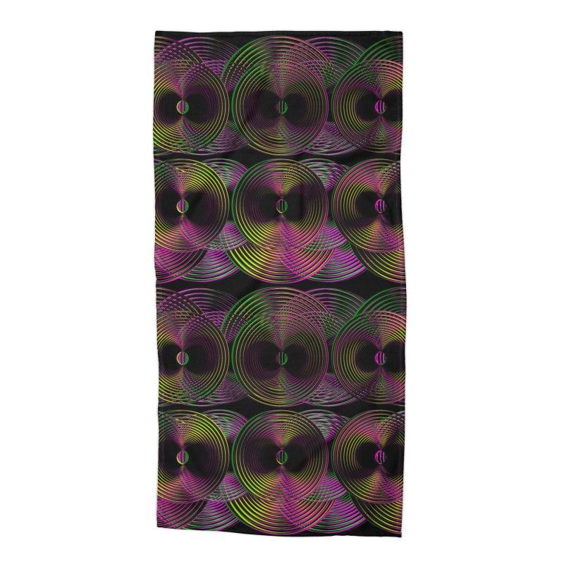 3d lp neon pat. Accessories Beach Towel by gasponce