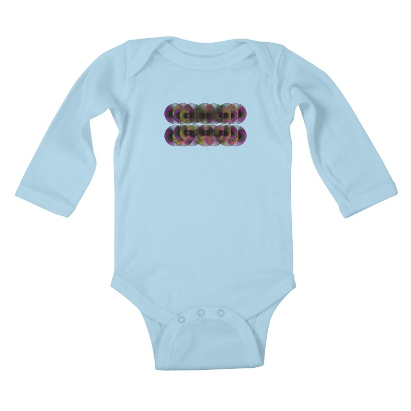 3d lp neon pat. Kids Baby Longsleeve Bodysuit by gasponce