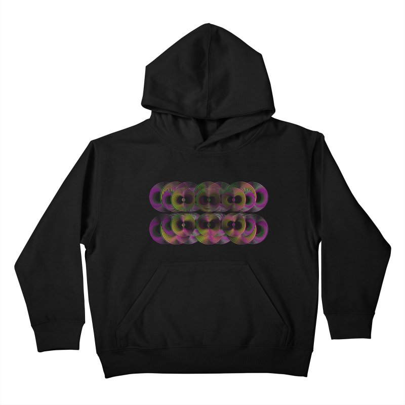 3d lp neon pat. Kids Pullover Hoody by gasponce