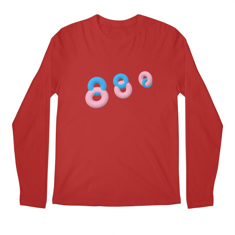 Minimal donuts! Men's Longsleeve T-Shirt by gasponce