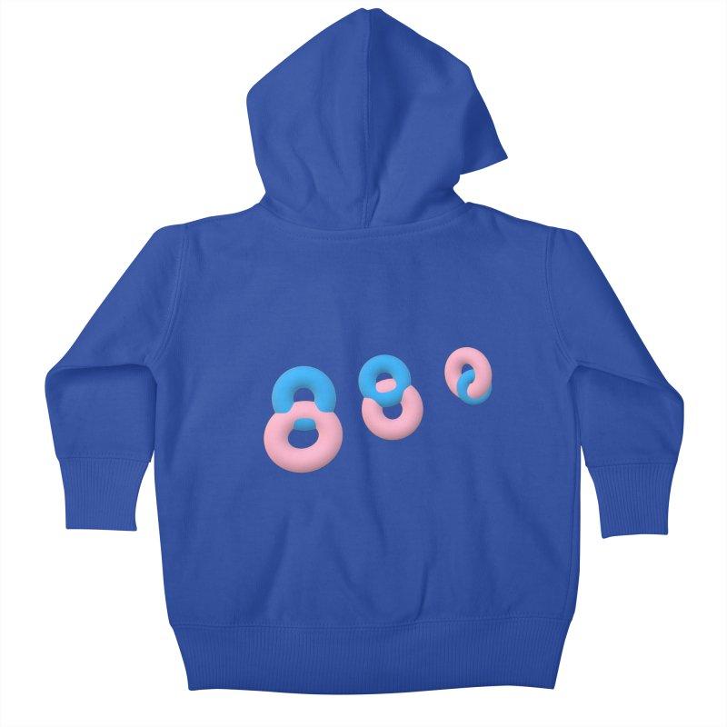 Minimal donuts! Kids Baby Zip-Up Hoody by gasponce