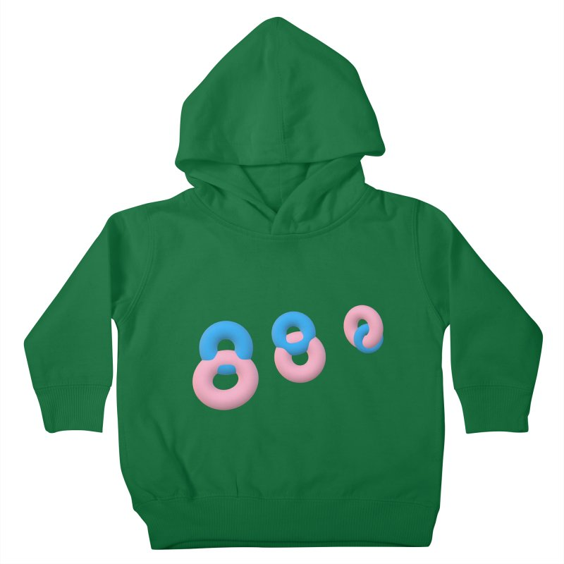 Minimal donuts! Kids Toddler Pullover Hoody by gasponce