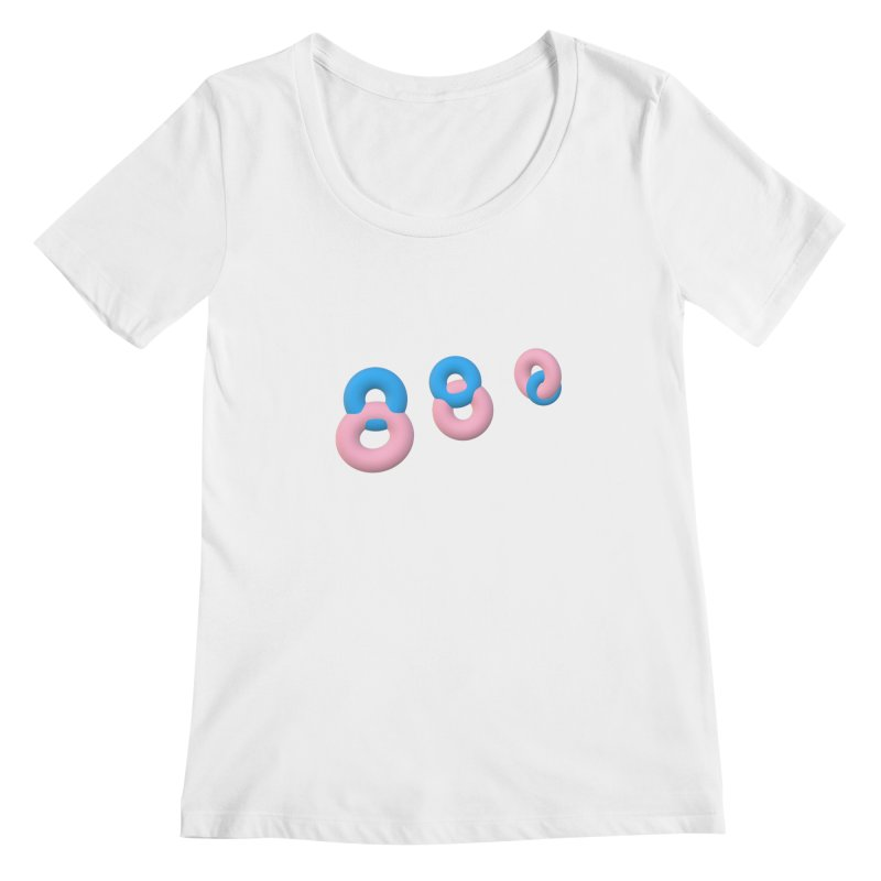Minimal donuts! Women's Scoopneck by gasponce