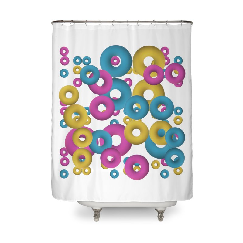 minimalist Fruity loops! Home Shower Curtain by gasponce