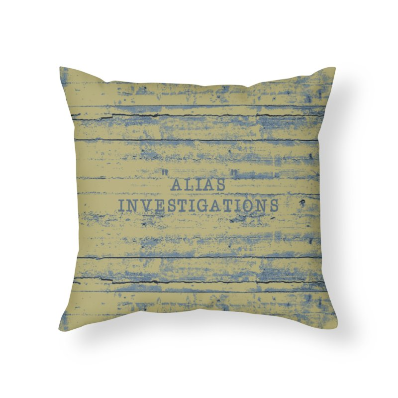 """""""alias"""" Home Throw Pillow by gasponce"""