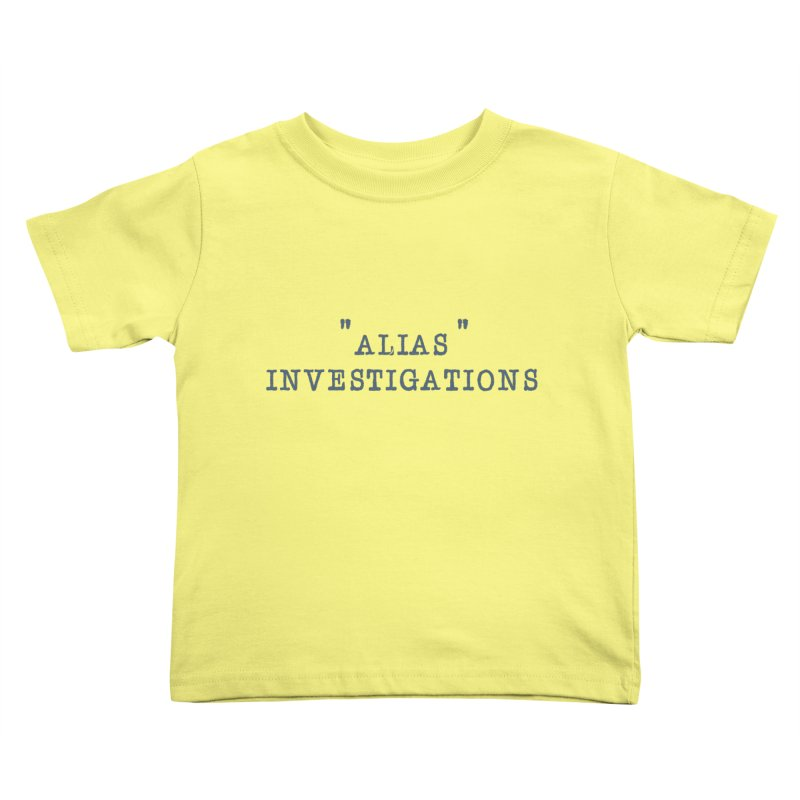 """""""alias"""" Kids Toddler T-Shirt by gasponce"""