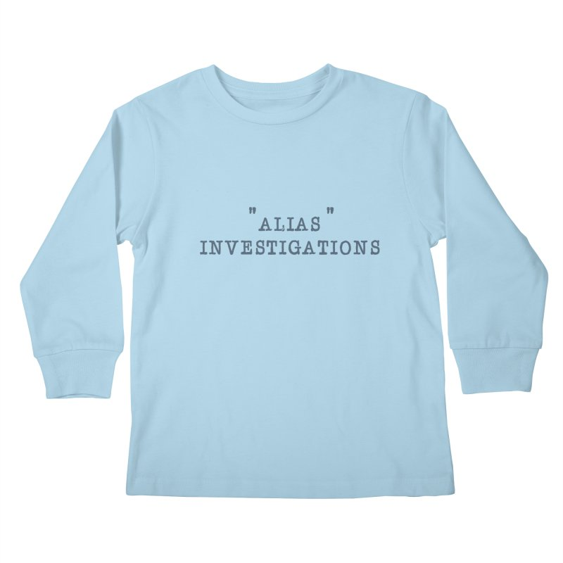 """alias"" Kids Longsleeve T-Shirt by gasponce"