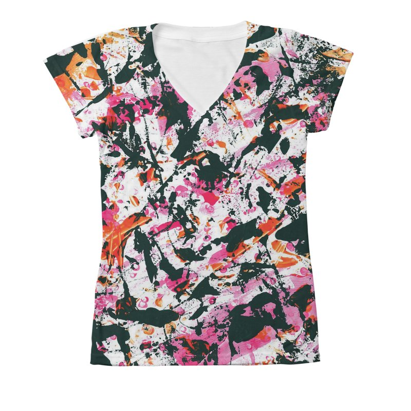 Graffiti Lightning! Women's V-Neck All Over Print by gasponce