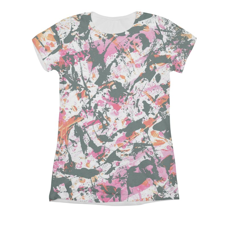 Graffiti Lightning! Women's All-Over Print Triblend T-Shirt by gasponce