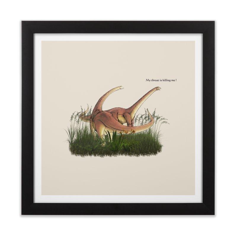 SORE THROAT! Home Framed Fine Art Print by gasponce