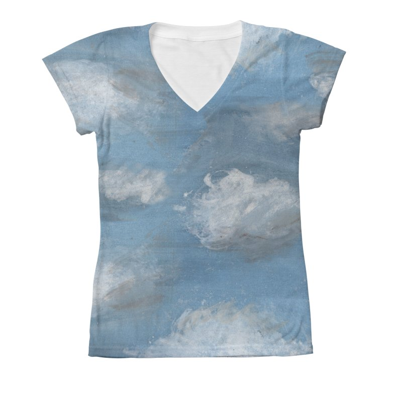 CLOUDS Women's X-Small V-Neck by gasponce