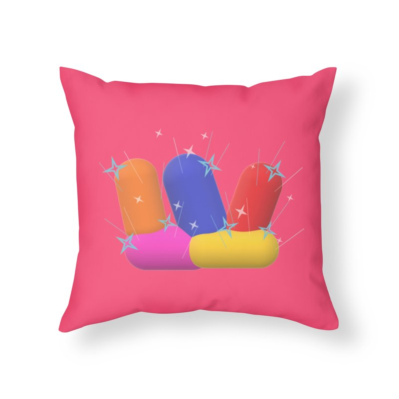 Minimal Crystals! Home Throw Pillow by gasponce