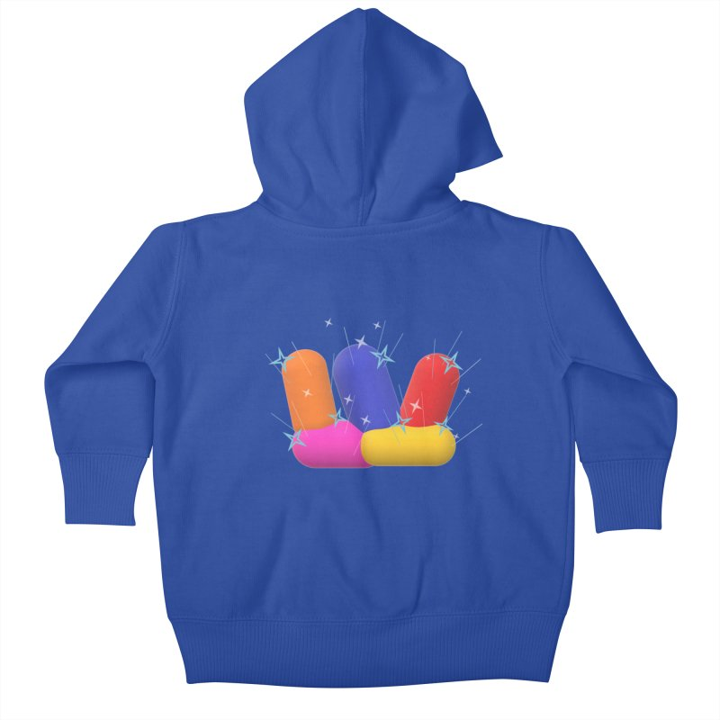 Minimal Crystals! Kids Baby Zip-Up Hoody by gasponce