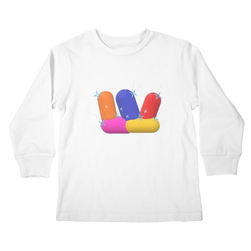 Minimal Crystals! Kids Longsleeve T-Shirt by gasponce