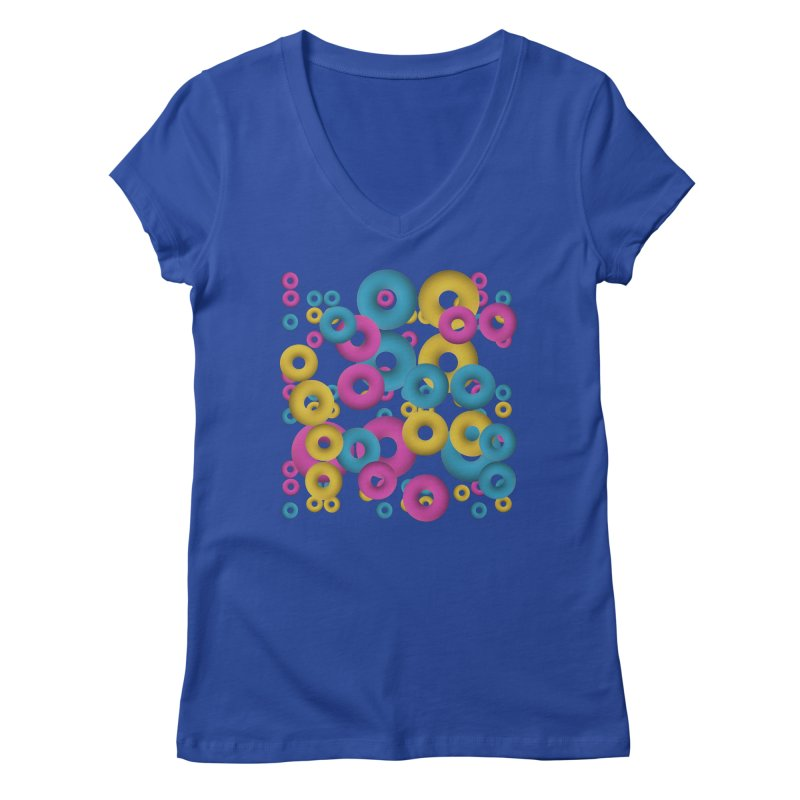 minimalist Fruity loops! Women's V-Neck by gasponce