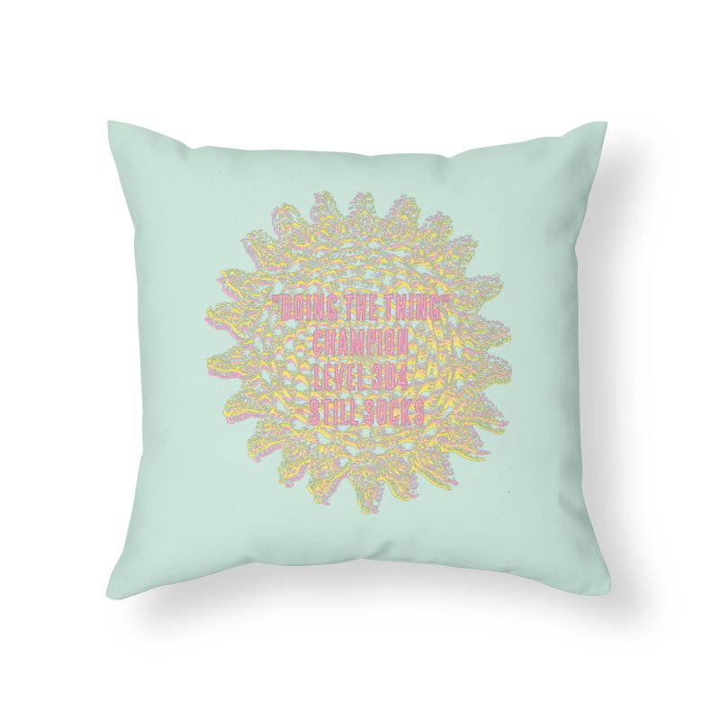 Thing champion Home Throw Pillow by gasponce
