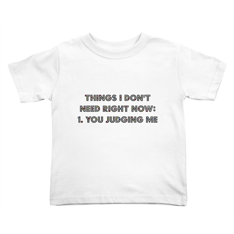 JUDGY Kids Toddler T-Shirt by gasponce