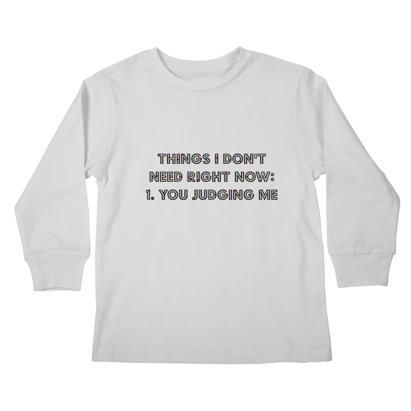 JUDGY Kids Longsleeve T-Shirt by gasponce