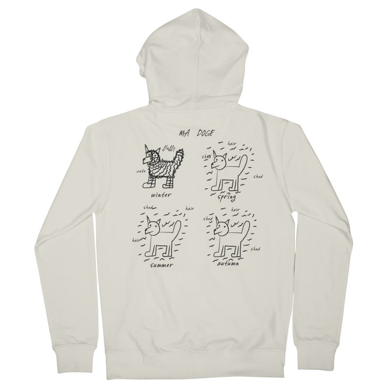 MA DOGE! Men's Zip-Up Hoody by gasponce