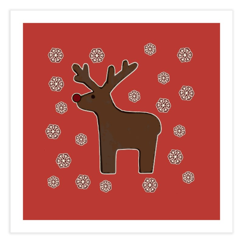 Christmas deer! Home Fine Art Print by gasponce