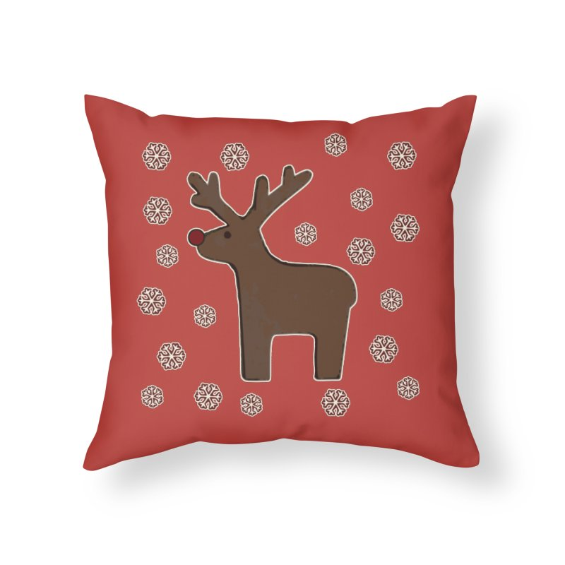 Christmas deer! Home Throw Pillow by gasponce