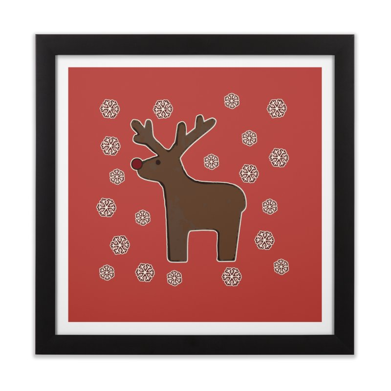 Christmas deer! Home Framed Fine Art Print by gasponce
