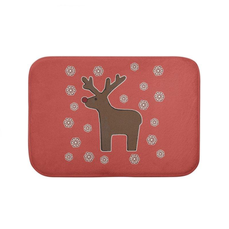 Christmas deer! Home Bath Mat by gasponce
