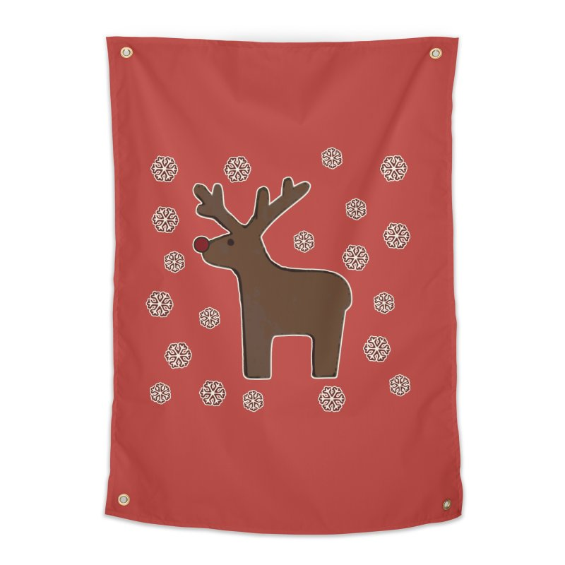 Christmas deer! Home Tapestry by gasponce