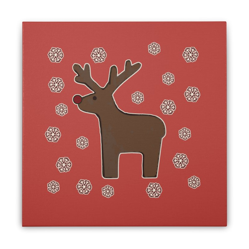 Christmas deer! Home Stretched Canvas by gasponce