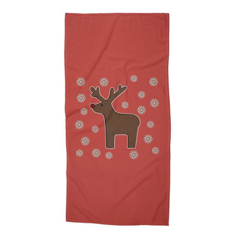 Christmas deer! Accessories Beach Towel by gasponce