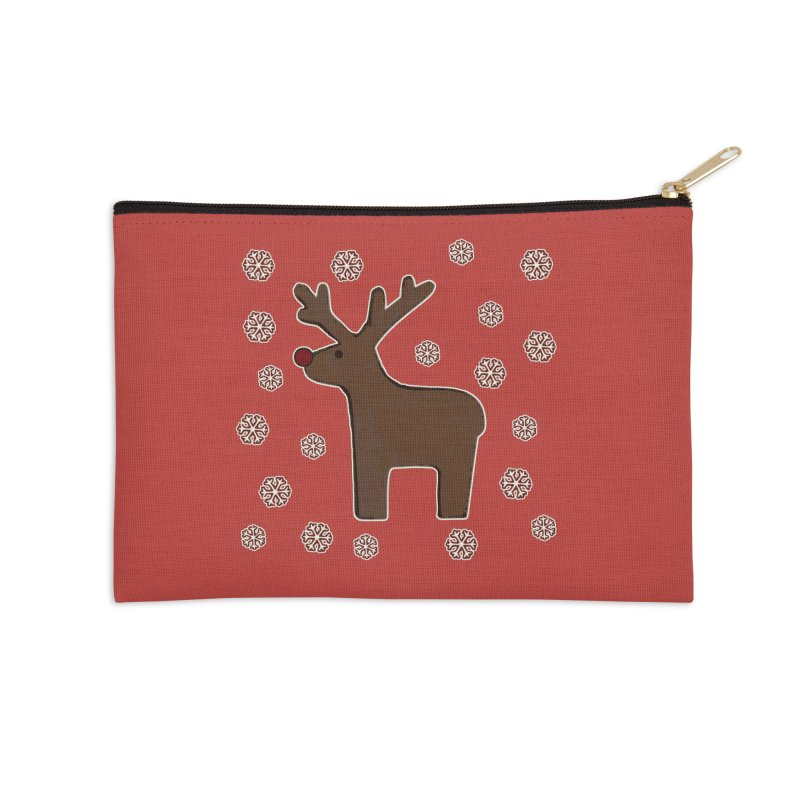 Christmas deer! Accessories Zip Pouch by gasponce