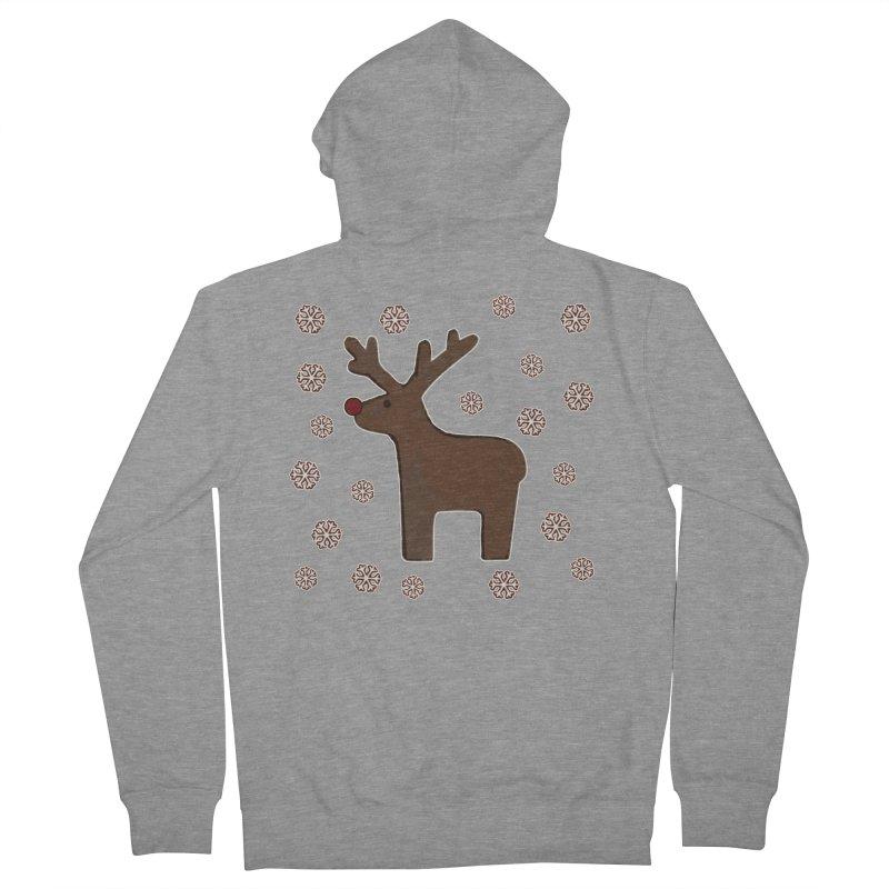 Christmas deer! Men's Zip-Up Hoody by gasponce