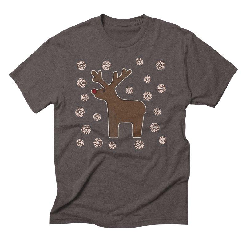 Christmas deer! Men's Triblend T-Shirt by gasponce