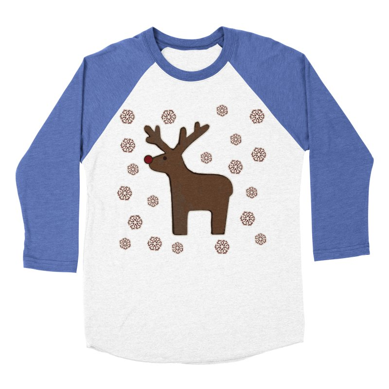 Christmas deer! Women's Baseball Triblend T-Shirt by gasponce